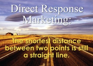 Direct Response Marketing: The shortest distance between two points is still a straight line